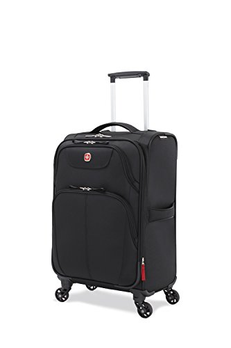 SwissGear Meyrin 20'' Expandable Spinner Suitcase, Black by SwissGear