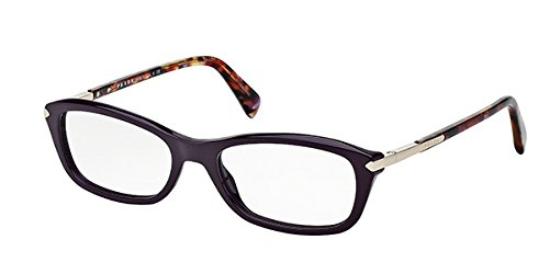 PRADA Eyeglasses VPR04PA ROM 1O1 54mm Purple / Violet Havana - Eyeglasses Purple Prada