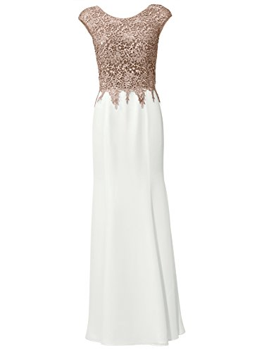 taupe Spitze lang creme Cocktail Brooke Party Abendkleid Ashley 1t6nYWqtgd