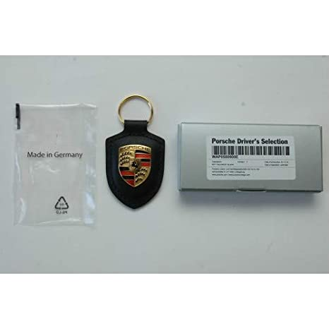 Porsche Crest Key Ring - Black