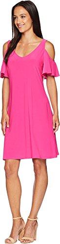 Rose Suri Sleeve Dress American Womens Pink Ruffle Shoulder Cold OZnxC4qdw