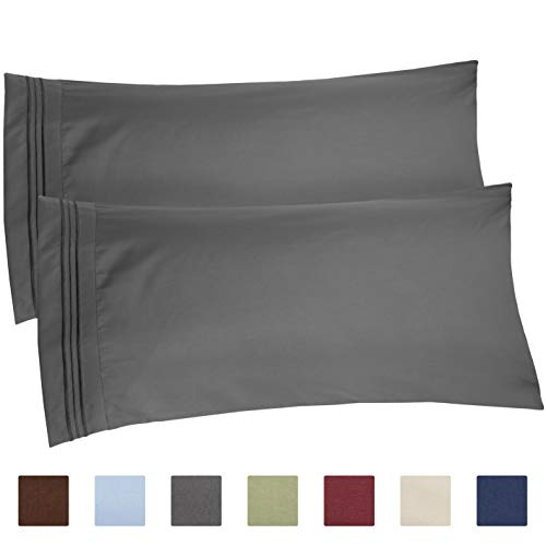 King Size Pillow Cases Set of 2 - Soft, Premium Quality Hypoallergenic Pillowcase Covers - Machine Washable Protectors - 20x40, 20x36 & 20x48 Pillows for Sleeping 2 PC - King - Pillowcase Set 2