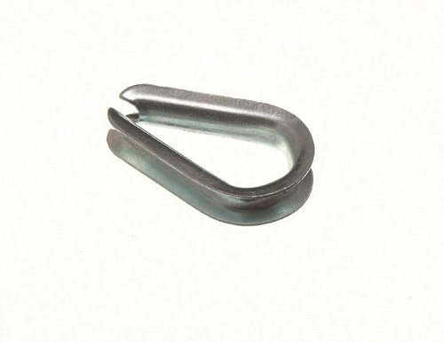 WIRE ROPE THIMBLE 6MM 1/4 INCH BZP ZINC PLATED STEEL ( pack of 4 ) onestopdiy.com