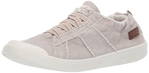 Blowfish Women's Vex Sneaker, Sandy Grey Smoked Canvas, 9 M US