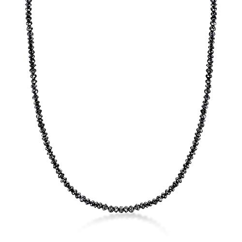 Ross-Simons 31.00 ct. t.w. Black Diamond Bead Necklace With 14kt White Gold