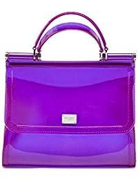 Women's BB6235AU6988M056 Purple Pvc Handbag
