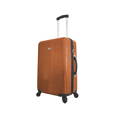 Viaggi Murano Hardside 24 Inch Spinner, Brown, One Size (Murano Suitcase)