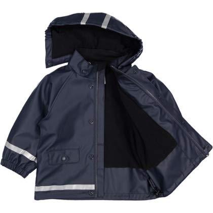 Baby - 1-2 Years//Dark Sapphire Pyret Fleece Lined Rainy Fun Slicker Polarn O