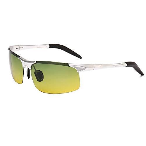 Aluminium de de vision air Sport Miroir night Conduite Plein frame sunglasses Lunettes Silver en de goggles magnésium Soleil Homme Mjia polarisées Lunettes pour Sports 1 de qHw0gP