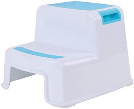 Sgabello per Bambini Vaorwne Sgabello Un 2 Gradini per Bambini con Impugnatura Morbida Antiscivolo per Sicurezza Come WC da Bagno Vasino da Allenamento Vasino e Sgabello da Cucina Blu