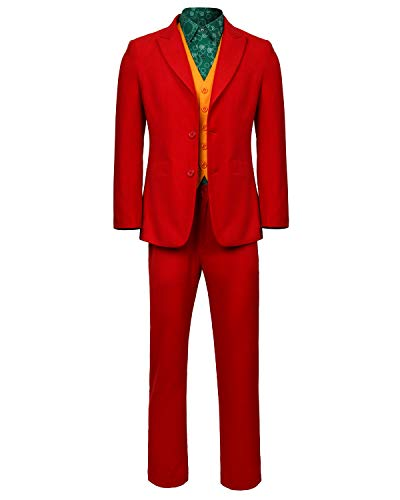 Best Male Halloween Costumes Of 2019 (Joker 2019 Cosplay Costume Mens Halloween Joaquin Shirt, Full Set, Size)