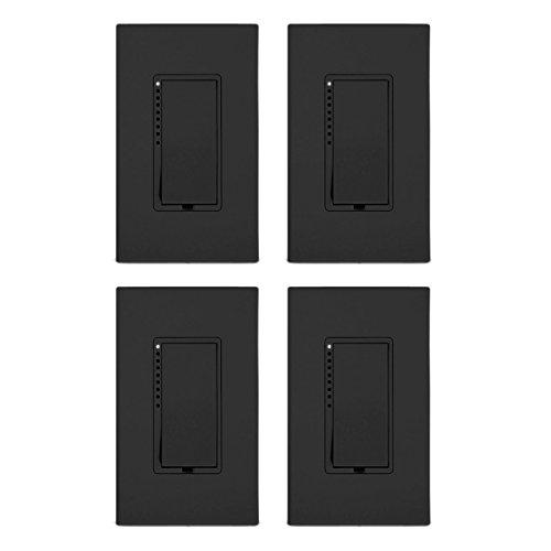 INSTEON 2477DBK-4PK SwitchLinc Dimmer (4 Pack), Black