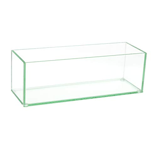 Glass Vase Decorative Centerpiece for Home or Wedding Oblong Rectangle Shape, 12