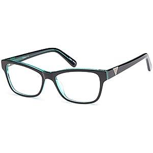 DALIX Female Prescription Eyeglasses Frames 55-17-140-38 RXable in Brown/Crystal