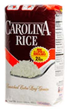 Carolina Enriched Extra Long Grain White Rice 2 lbs (Pack of 12)