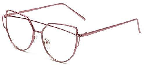 Grau de en Chat Lunettes Hykis rétro de Eyewear Lunettes Cadre Lunettes pour nbsp;– Oculos avec pour Homme nbsp;œil Femme rose métal Cadre Unisexe Clair Objectif 7xxzBwgq