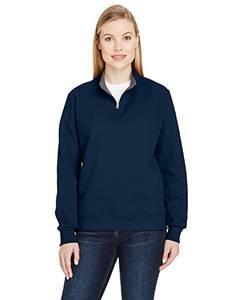 Fruit Of The Loom Classic Sweatshirt - Fruit of the Loom Womens Sofspun Quarter-Zip Sweatshirt (LSF95R) -J. Navy -S