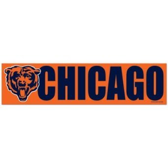 WinCraft NFL Chicago Bears WCR13388413 Bumper Strip, 3