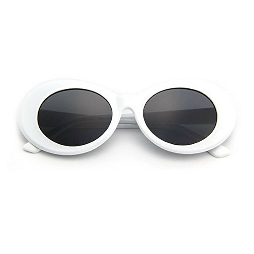 Amazon.com: Dailly Necessities CLOUT GOGGLES Retro Thick Framed ...