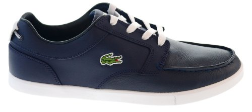 Lacoste Sport Mens Blue Leather Casual Bowrey PNA Boat Shoes Size 8