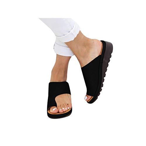 Women's Aditi Low Wedge Dress Sandals Casual Flip Flops Buckle Strap Wedges Sandals Platforms Shoes -