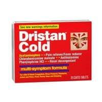 Dristan Dristan Cold Tablets Multi-Symptom Formula, 20 tabs (Pack of 2)