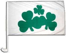 12 x 16 inch Digni Ireland Shamrock Car Flag