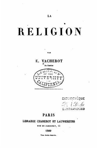La religion (French Edition)
