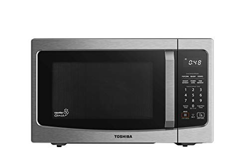 Toshiba ML-EM34P(SS) Smart Countertop Microwave Oven Compatible with Alexa, Humidity Sensor and Sound on/Off Function…