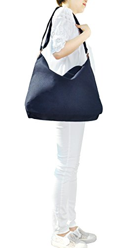 Shoulder Bag Sage navy Crossbody Fashion Handbag 2way Style Unisex Casual Canvas Oversized Hobo Hobo PzxXqXw4p