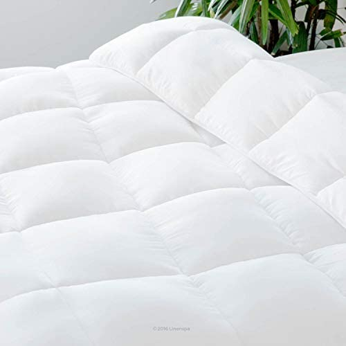 home, kitchen, bedding, duvets, covers, sets,  duvets, down comforters 1 picture Linenspa All-Season White Down Alternative Quilted Comforter promotion