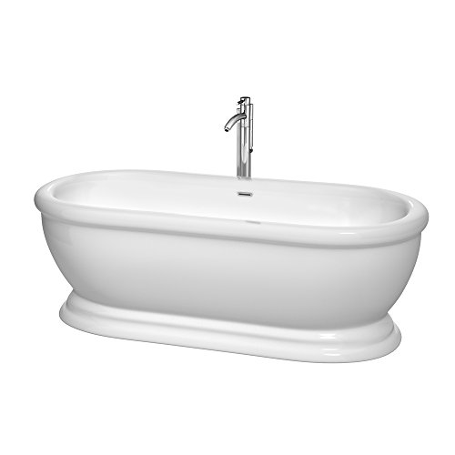 Wyndham collection wcbto85268atp11pc mary freestanding bathtub for Best soaker tub for the money