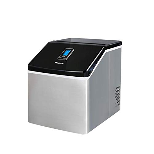25KG Intelligent Commercial Ice Maker Machine - LED screen, stainless steel ice cube machine-24 ice cubes / 12 Min - 55 lbs/24h-Ideal for Restaurants, Bars, Homes and ()