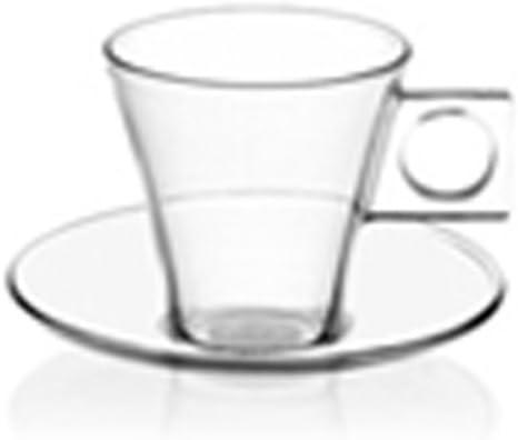 Nescaf/é Dolce Gusto Bicchiere e Piattino per Espresso 2 Pezzi