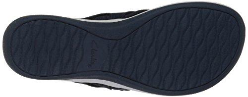Clarks Womens Arla Marina Flip-flop Navy Sintetico / Tessile Combi