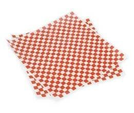 Bundleofbeauty Item#677hy- 100 Sheets 12 X12 Red and White Checkered Food Picnic Basket Hamburger Paper Liners & Wrapping Tissue by CakeSupplyShop