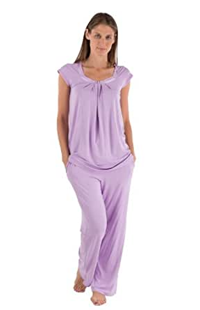 Women's Bamboo Pajama Sleep Set - Bamboo Bliss (Orchid, X-Small) Best Leisure Wear for Her WB0001-ORC-XS