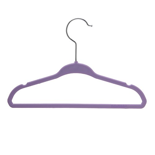 BriaUSA Kids Baby Clothes Hangers Purple Steel Hooks –Ultra Slim, Sturdy Saves You Extra Space – Box of 20 by BriaUSA