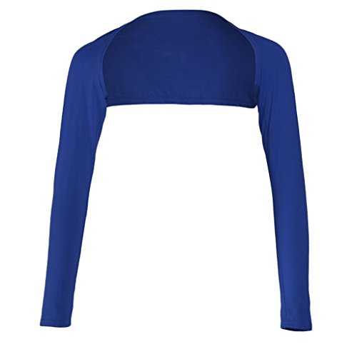 Del Davanti scuro Braccio Ladies Shrug Aperte Ramadan One Muslim P Blu Ladies Copertura Bolero Piece Hijab Prettyia Maniche Lunghe Elastica qnHOEvx7