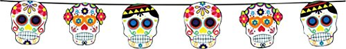 - Halloween Fancy Day Of The Dead Party Muertos Garland Decorative Skull Bunting