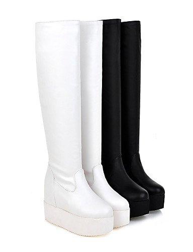 us6 Redonda Mujer Plataforma Botas Eu36 Blanco 5 us7 Cn36 Xzz 5 Eu38 Uk5 Semicuero Black Cn38 Negro Uk4 Casual Zapatos De Black Punta CSwXnExHqg