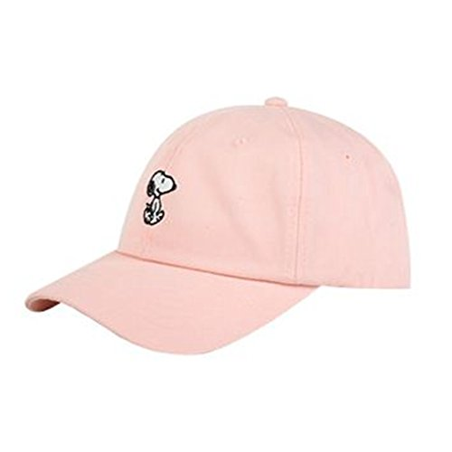 Peanuts Authentic Baseball Trucker Golf Sports Hats snoopy simple BALL CAPs Pink