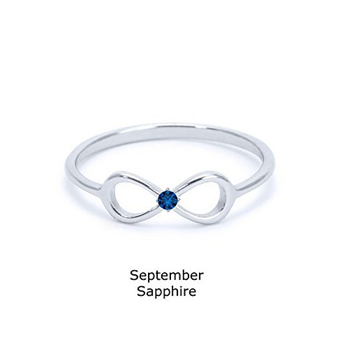 Heavy Casted 925 Sterling Silver Infinity Ring-centered High Quality Cz Stone Available in Sizes 4-12 Size (8)