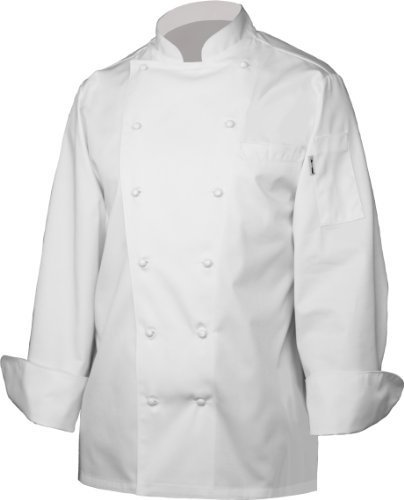 Chef Works SE52-WHT Monza Executive Chef Coat, White, Size S by Chef Works