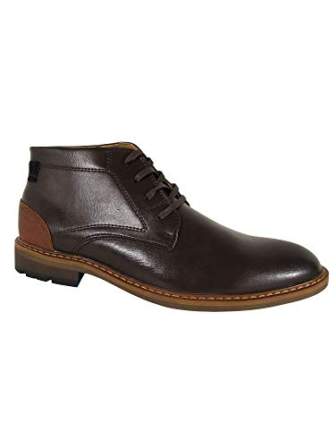 Restoration Mens Wayne Leather Chukka Ankle Boot Shoes, Brown, US 9.5