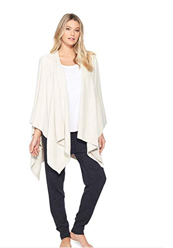BarefootDreams CozyChic Lite Weekend Wrap (Stone/Pearl), One Size