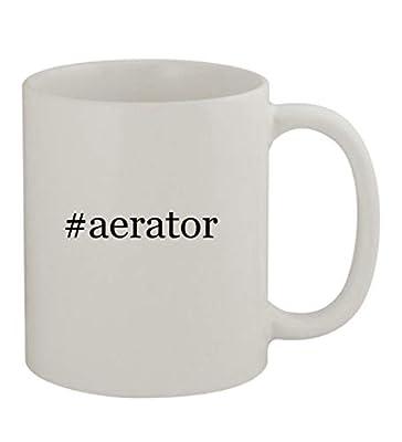 #aerator - 11oz Sturdy Hashtag Ceramic Coffee Cup Mug, White