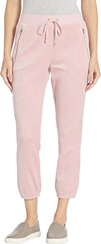 Juicy Couture Women's Track Velour Silverlake Pants Dusty Pink X-Large 24