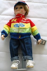 (Jeff Gordon Pit Crew Chris Porcelain Doll - 1998 Nascar - Hamilton Collection)