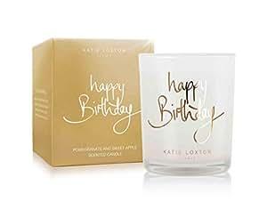 Amazon.com: Katie Loxton – Oro – Vela Feliz Cumpleaños ...